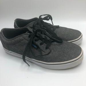 Vans Lace-up Black Tweed Sneakers Boys 6 Womens 8